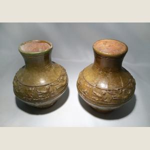 Image For: Ancient Chinese Pair of Han Dynasty Hu