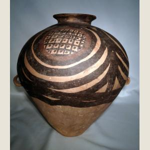 Image For: Ancient Chinese Neolithic Yangshao Painted Terracotta Vessel