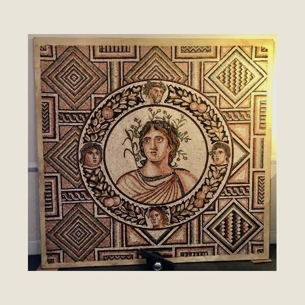 Ancient Roman Spring Season Mosaic