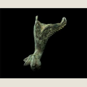 Image For: Ancient Roman Bronze Vessel Foot