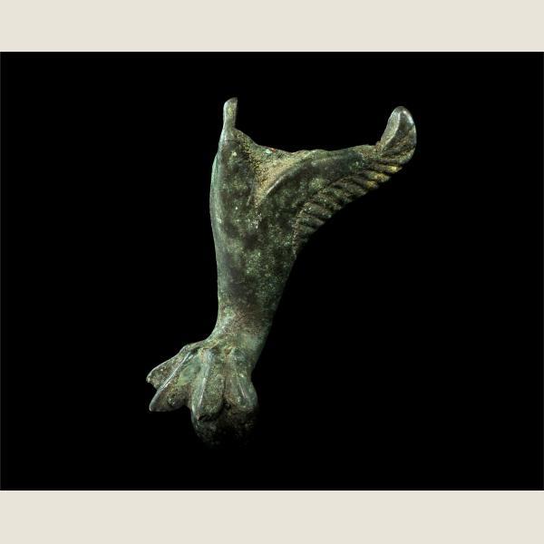 Ancient Roman Bronze Vessel Foot