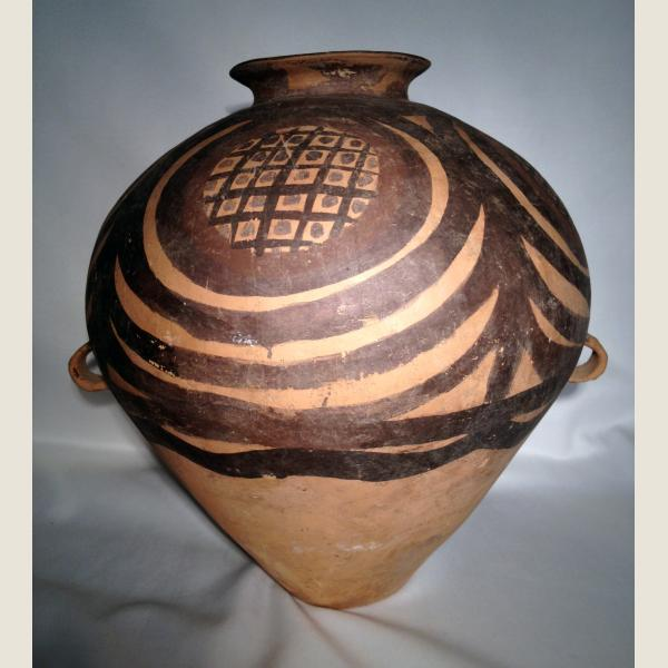 Ancient Chinese Neolithic Yangshao Painted Terracotta Vessel