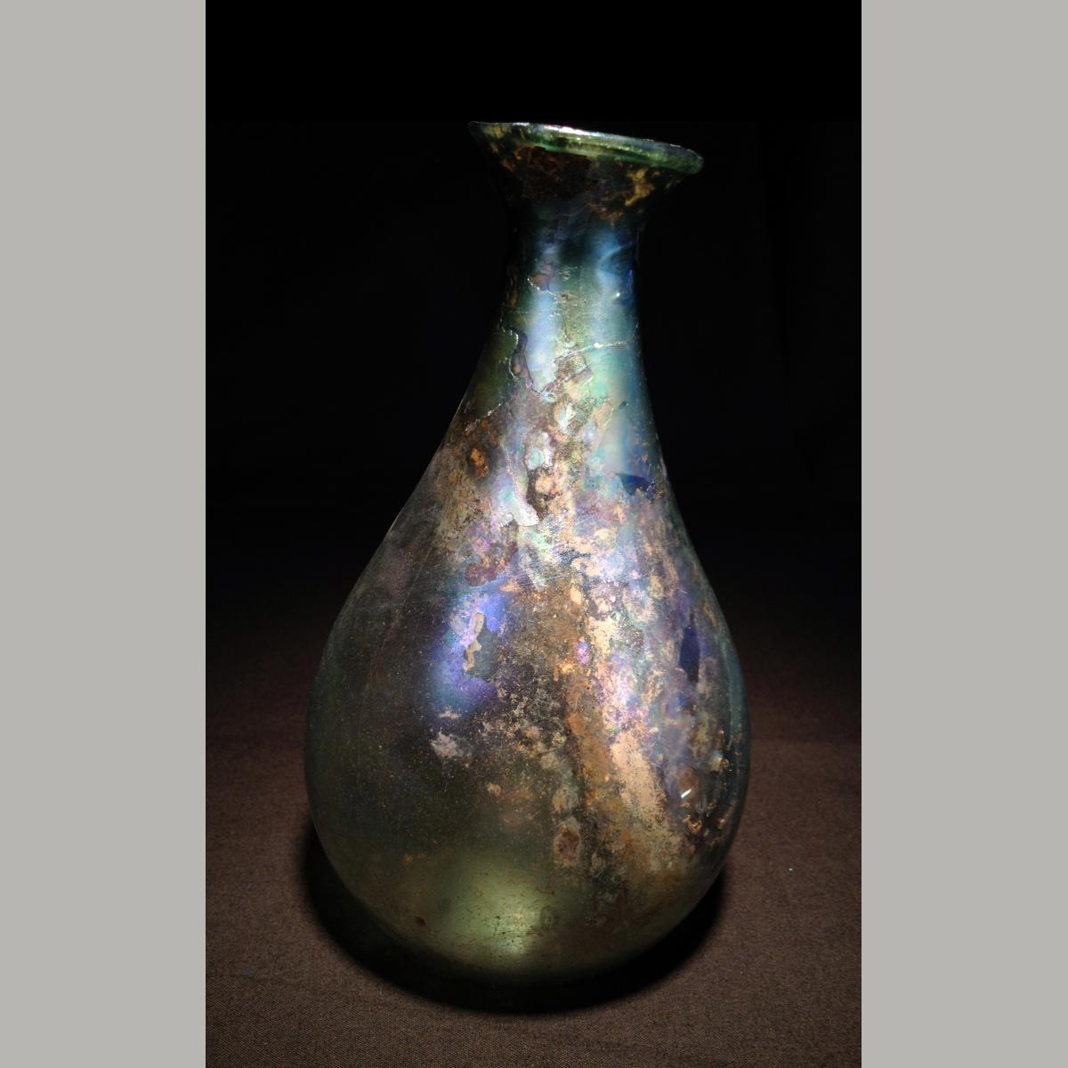 Large Glass Vessel : Ancient Roman Large Glass Vessel